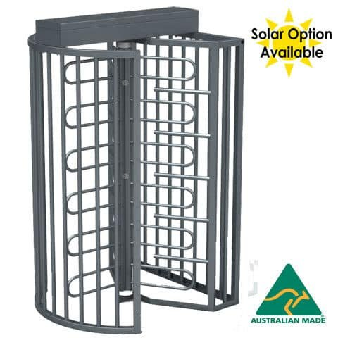 TriStar F21 Full Height SecuirtyTurnstile with Solar Option