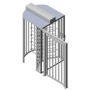TriStar F21 Full Height Australian Made Security Turnstile with wide access gate