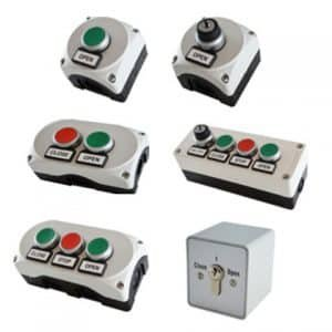Push buttons and key switches