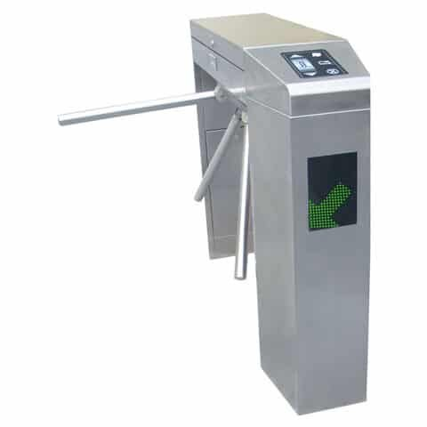 TriStar J18 Stainless Steel Weatherproof Waist Height Turnstiles