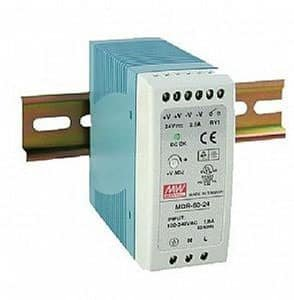 Power Supply 12 vdc din rail mount + din rail