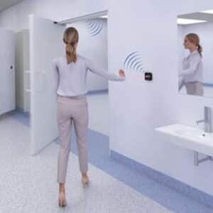 AerWave Touchless and Wireless Door Activation Switch in Action